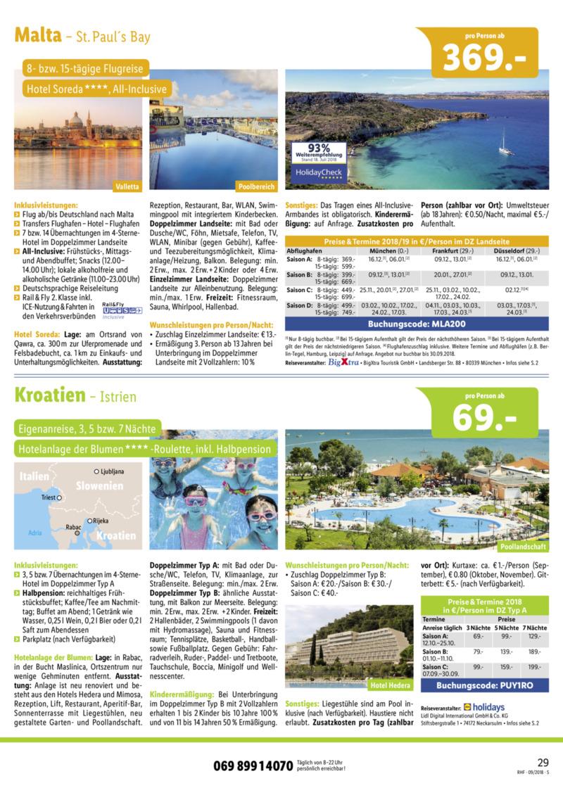 Lidl-Reisen Prospekt vom 01.09.2018, Seite 28