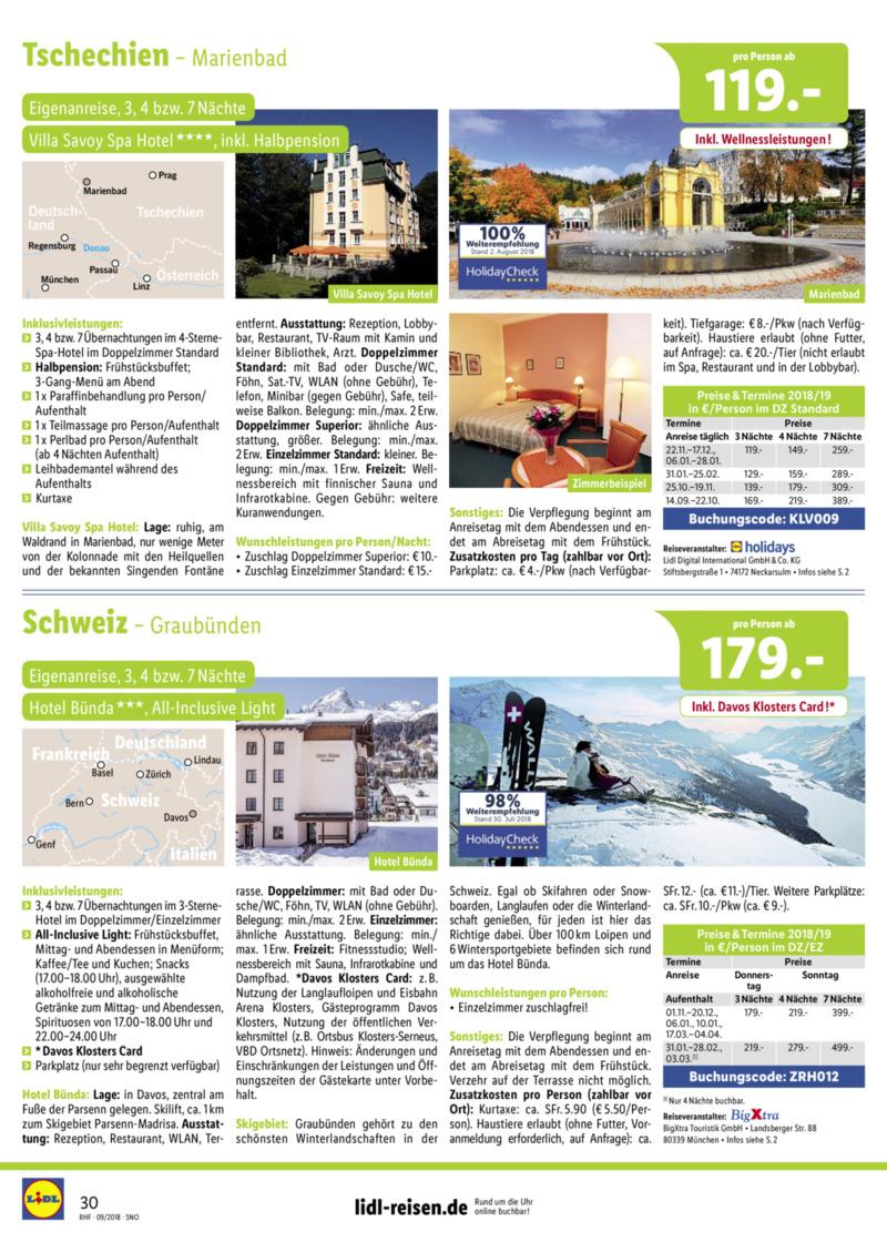 Lidl-Reisen Prospekt vom 01.09.2018, Seite 29