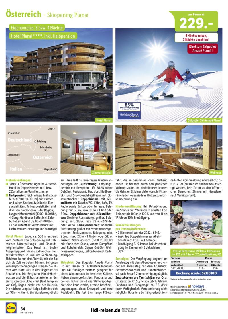 Lidl-Reisen Prospekt vom 01.09.2018, Seite 33