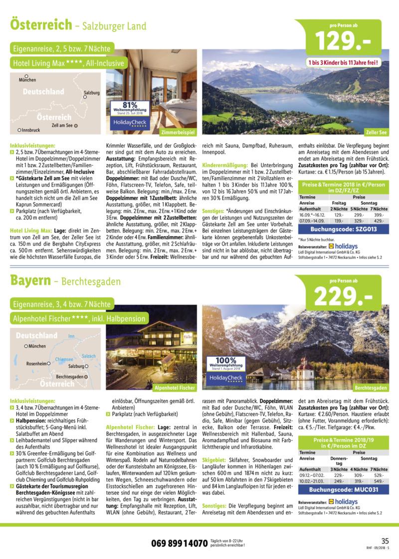 Lidl-Reisen Prospekt vom 01.09.2018, Seite 34