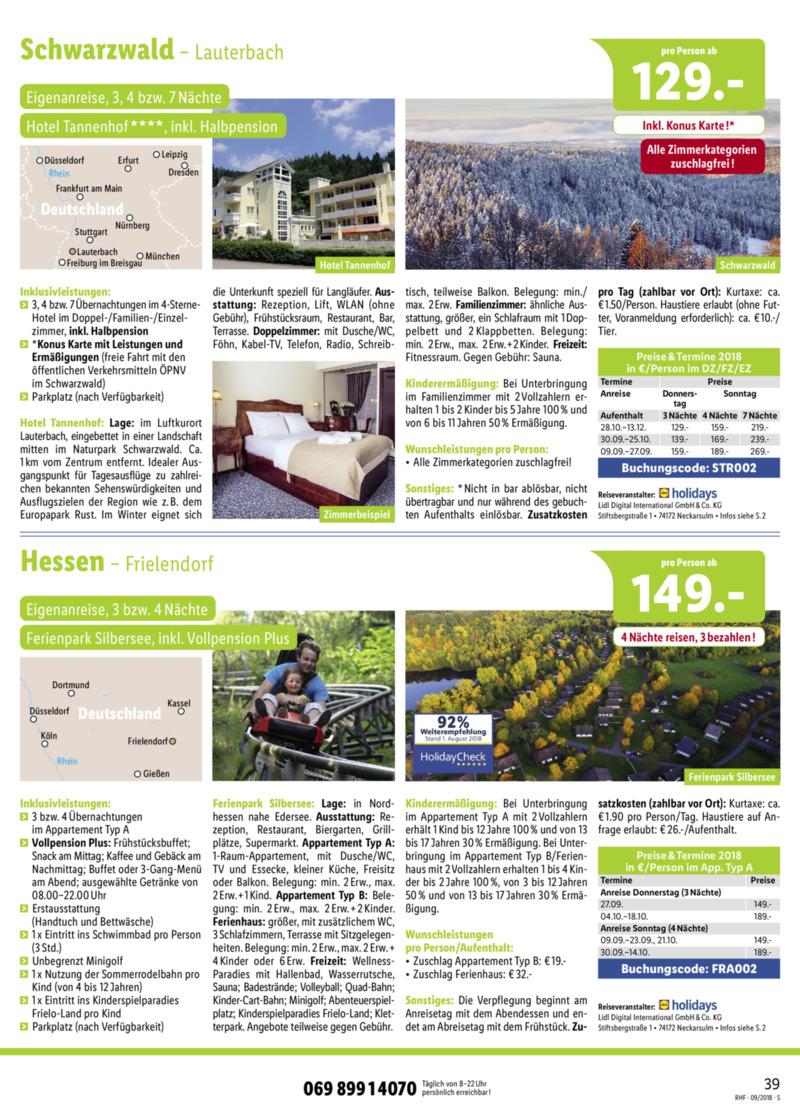 Lidl-Reisen Prospekt vom 01.09.2018, Seite 38