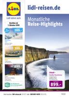 Lidl-Reisen Prospekt vom 01.10.2018