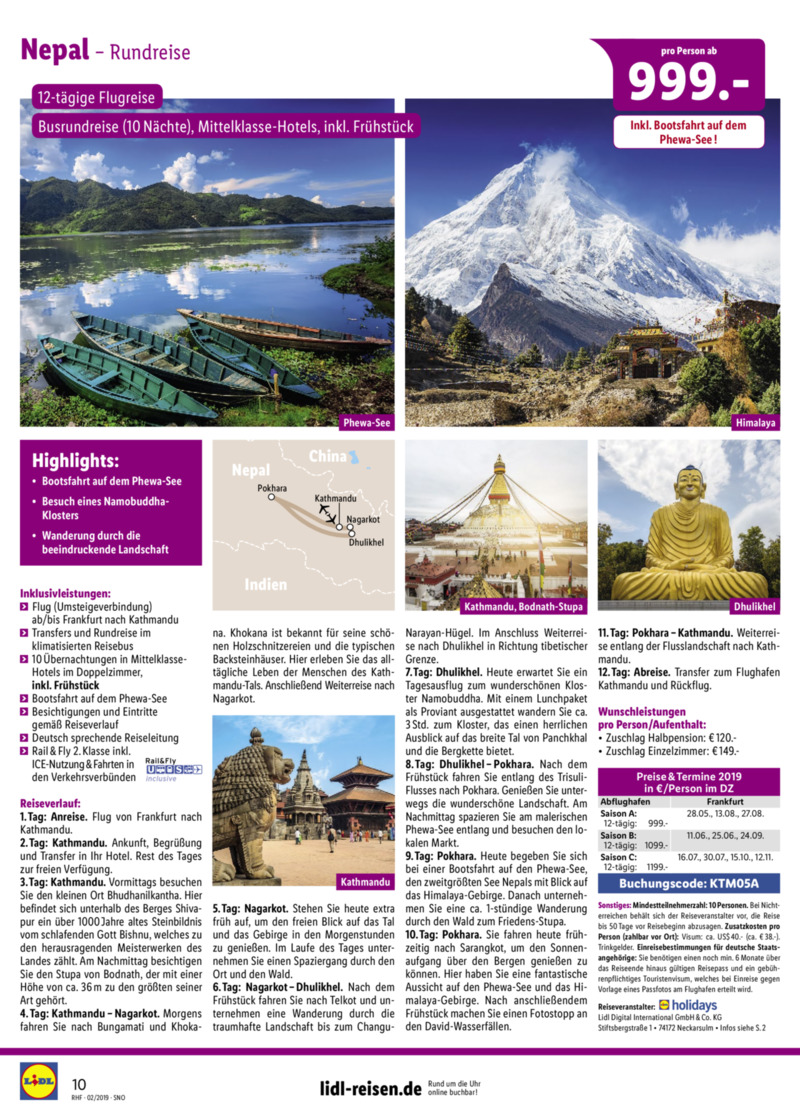Lidl-Reisen Prospekt vom 01.02.2019, Seite 9