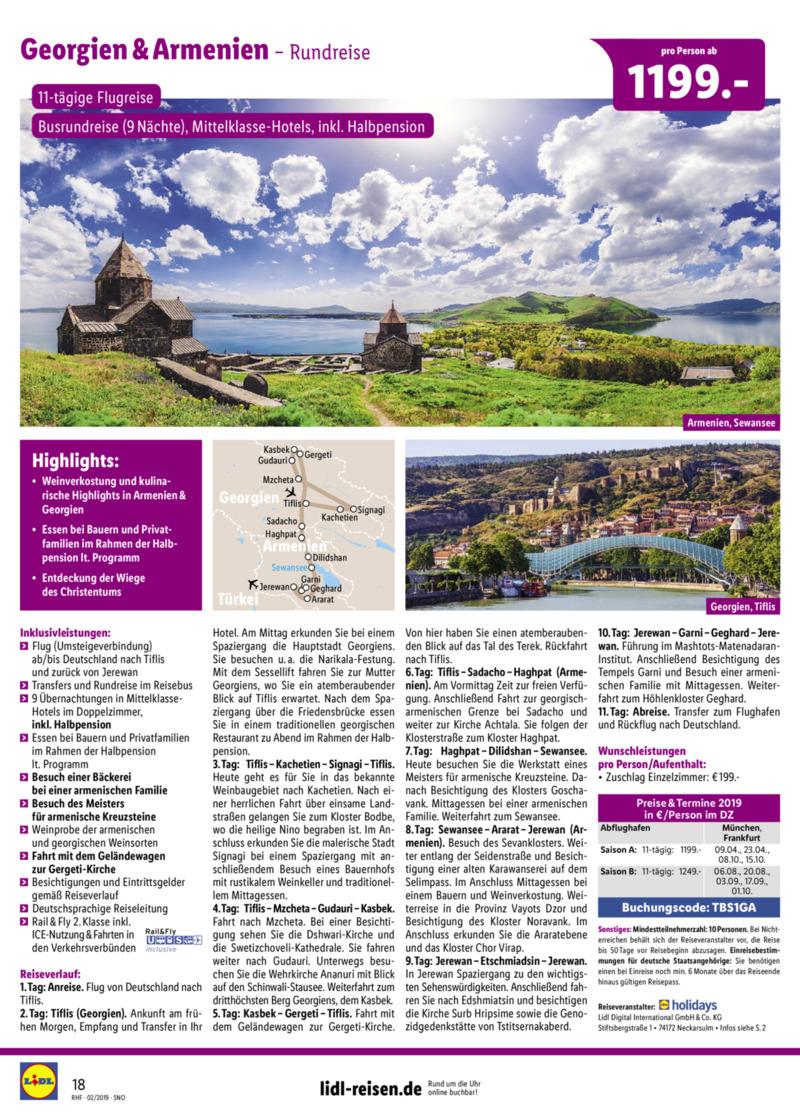 Lidl-Reisen Prospekt vom 01.02.2019, Seite 17