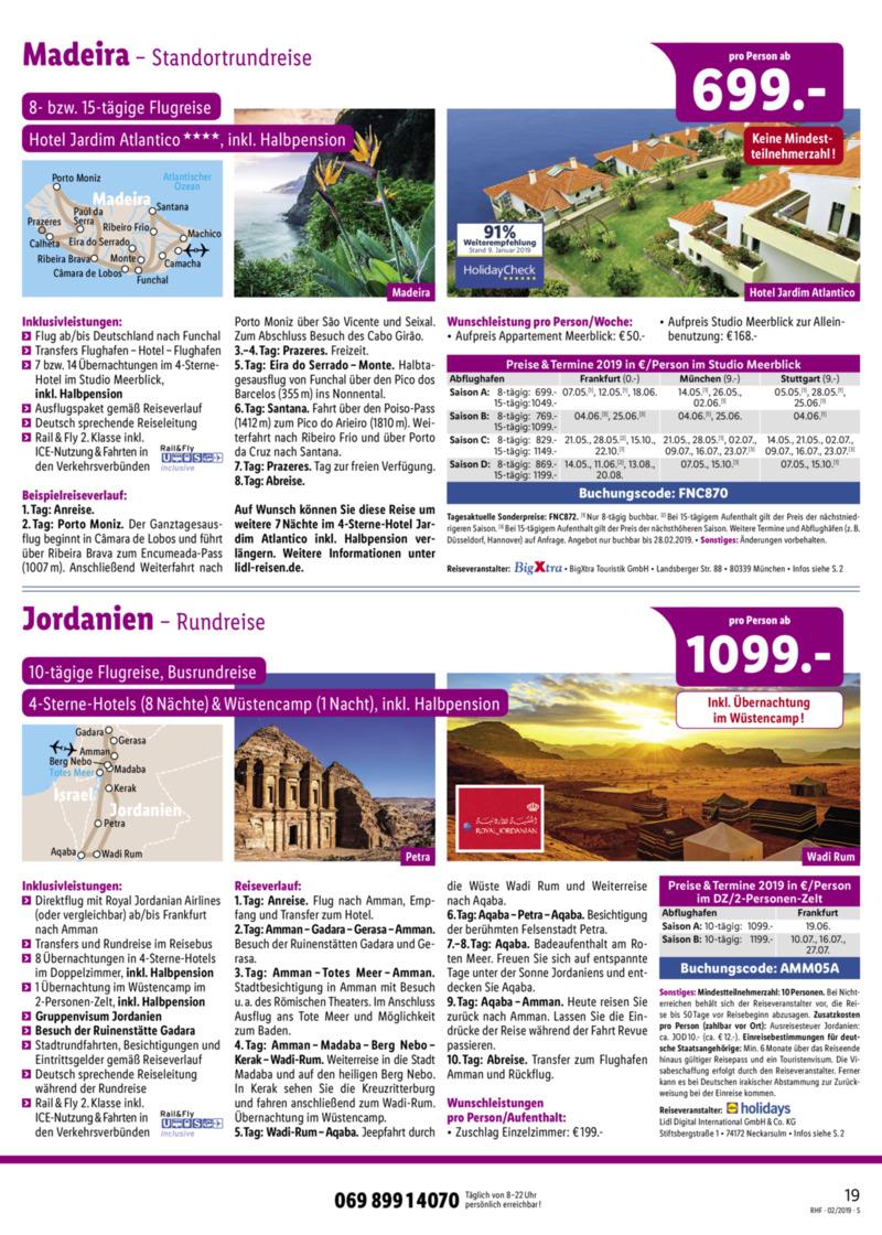 Lidl-Reisen Prospekt vom 01.02.2019, Seite 18