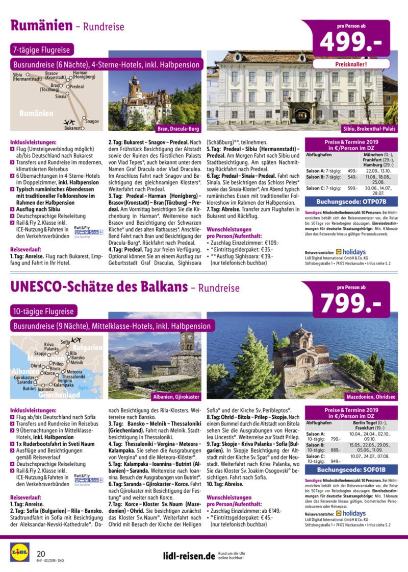 Lidl-Reisen Prospekt vom 01.02.2019, Seite 19