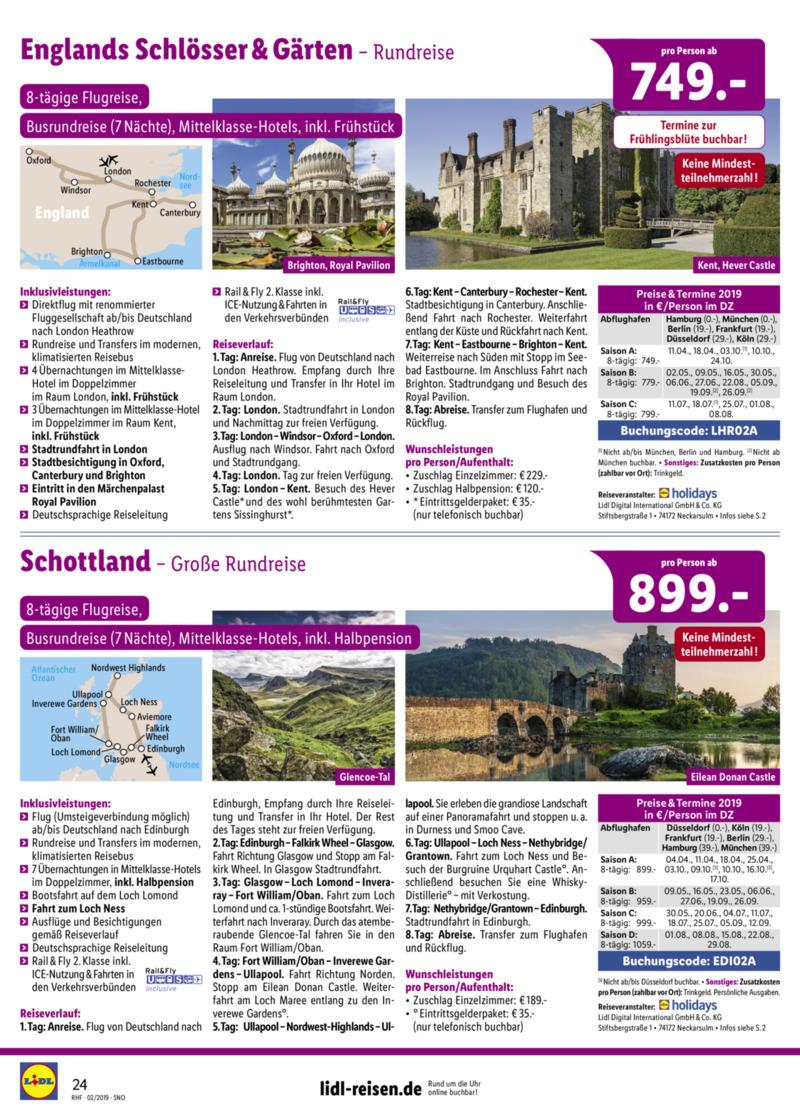 Lidl-Reisen Prospekt vom 01.02.2019, Seite 23