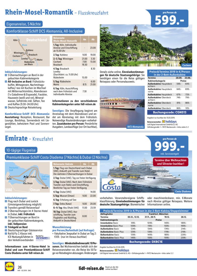 Lidl-Reisen Prospekt vom 01.02.2019, Seite 25