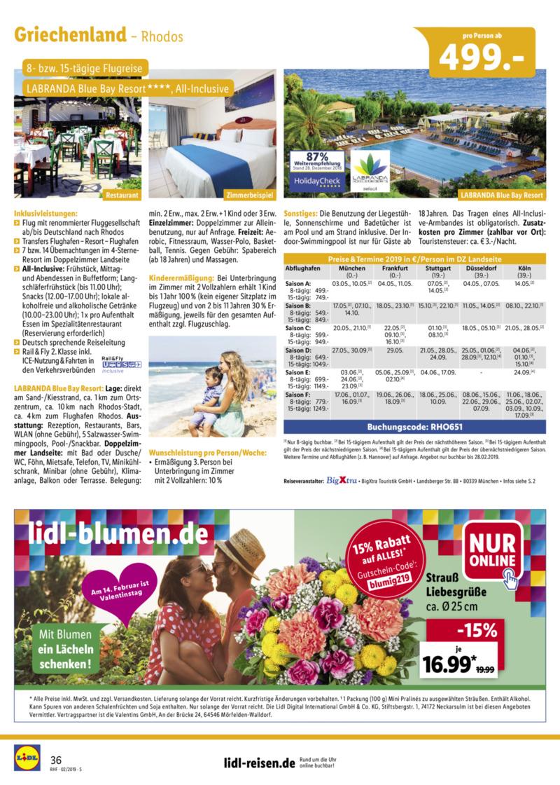 Lidl-Reisen Prospekt vom 01.02.2019, Seite 35