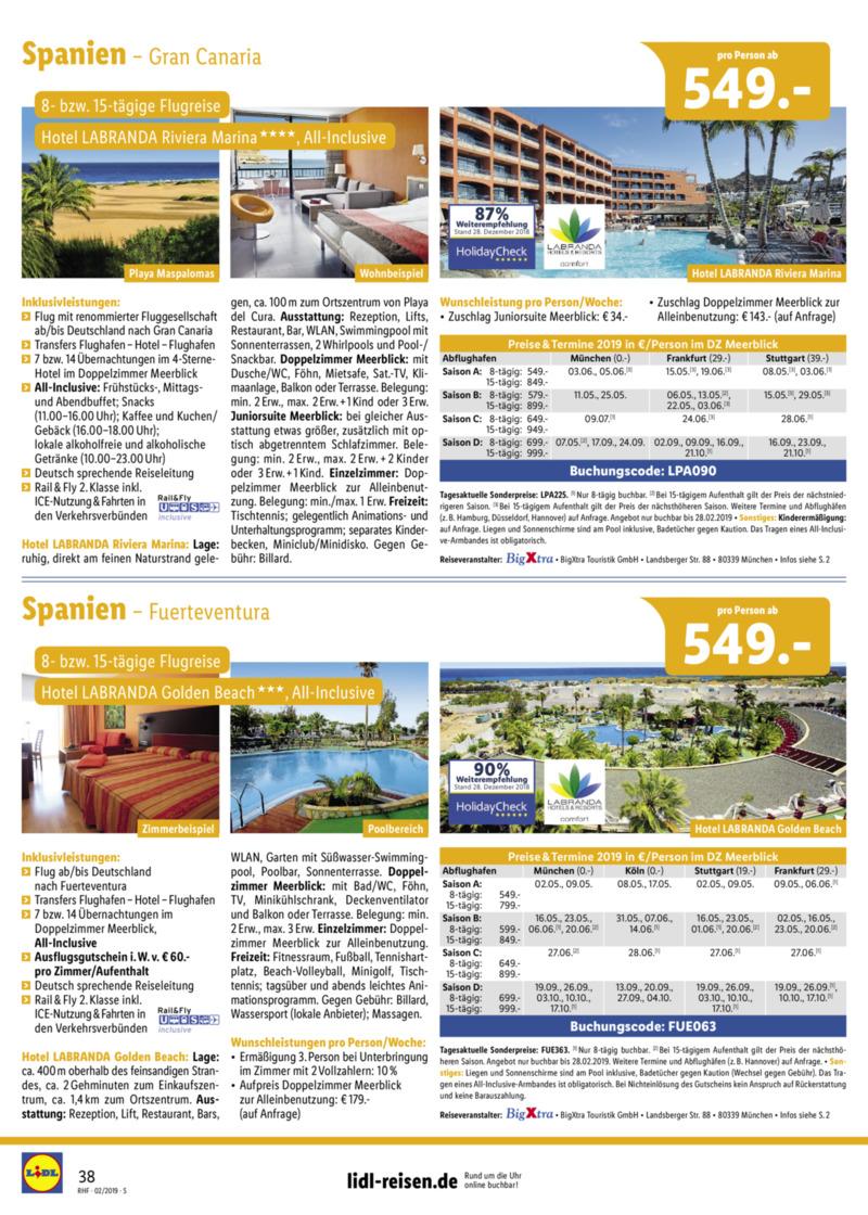 Lidl-Reisen Prospekt vom 01.02.2019, Seite 37