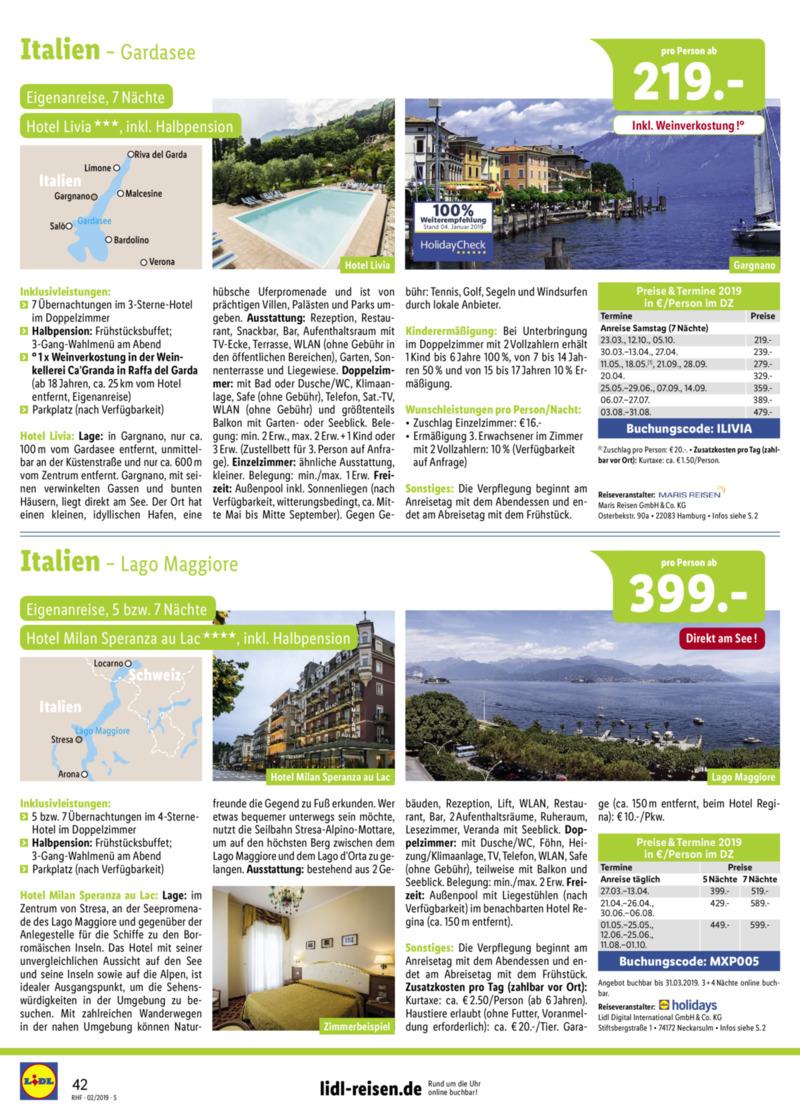 Lidl-Reisen Prospekt vom 01.02.2019, Seite 41