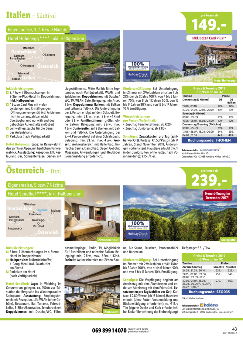 Lidl-Reisen Prospekt vom 01.02.2019, Seite 42