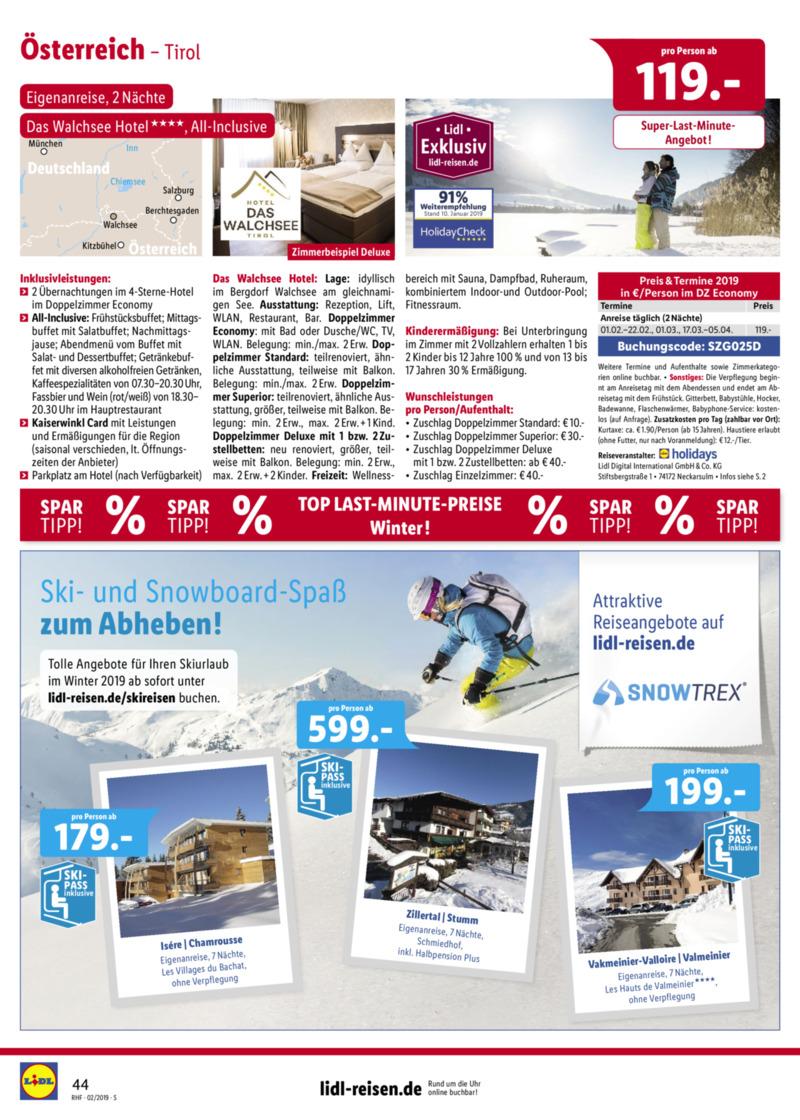 Lidl-Reisen Prospekt vom 01.02.2019, Seite 43