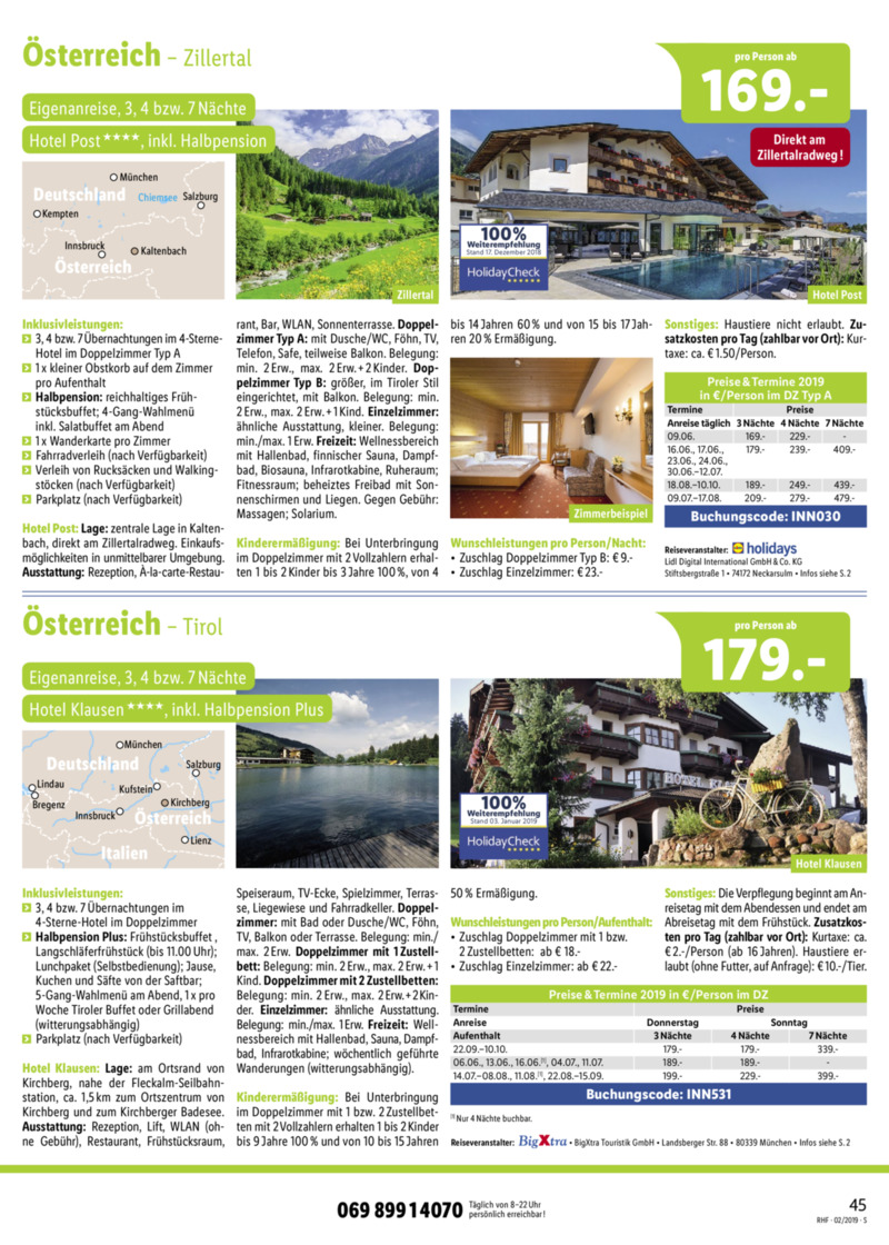 Lidl-Reisen Prospekt vom 01.02.2019, Seite 44