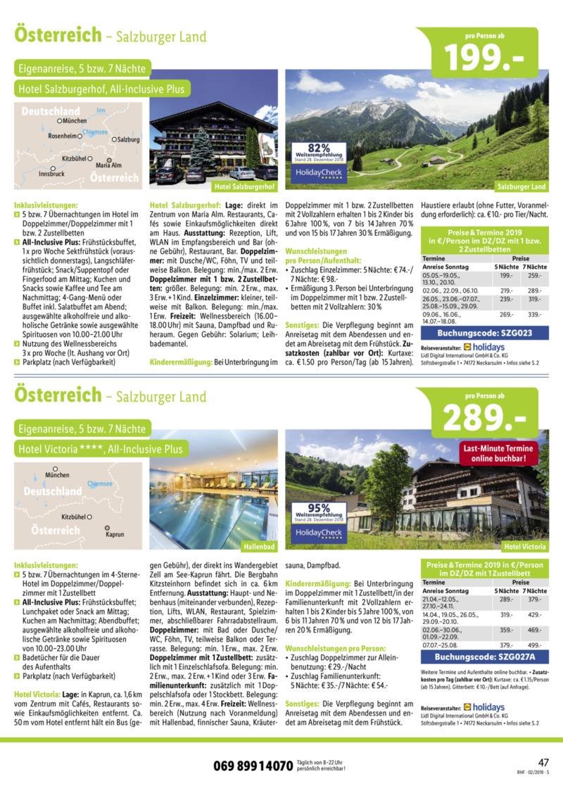 Lidl-Reisen Prospekt vom 01.02.2019, Seite 46