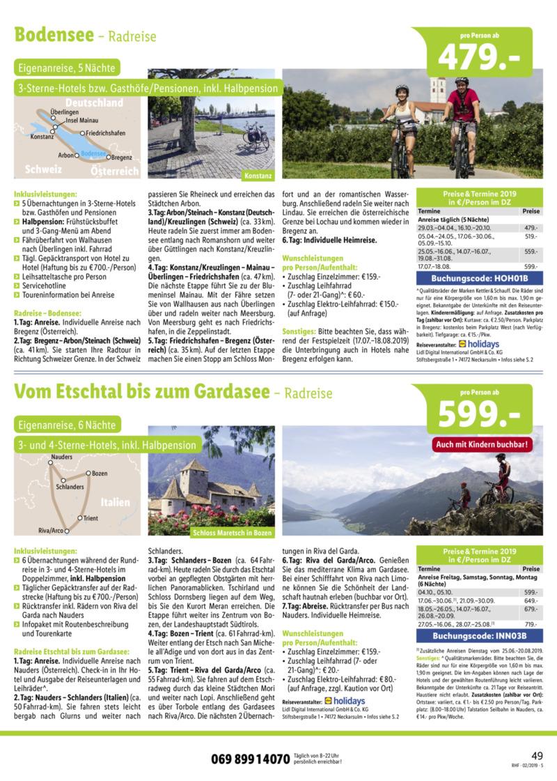 Lidl-Reisen Prospekt vom 01.02.2019, Seite 48
