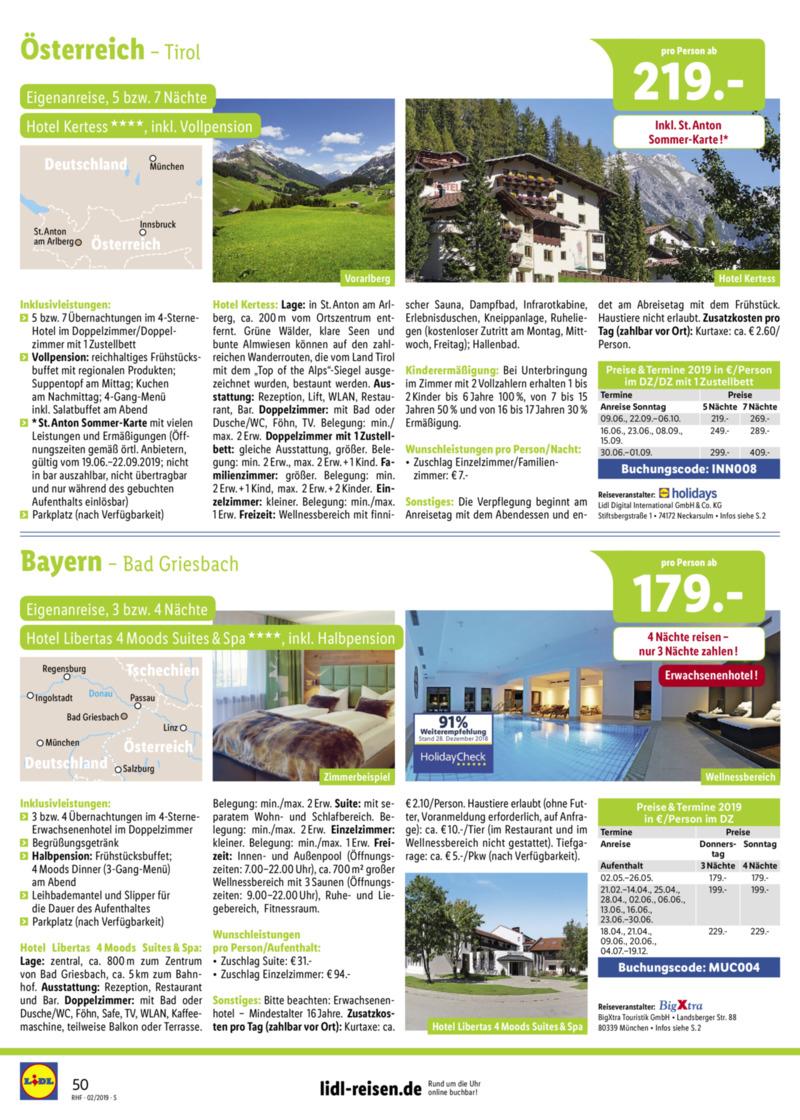 Lidl-Reisen Prospekt vom 01.02.2019, Seite 49