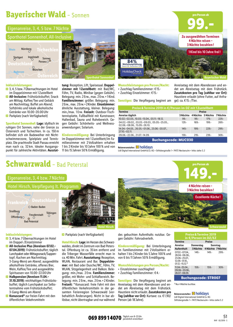 Lidl-Reisen Prospekt vom 01.02.2019, Seite 50