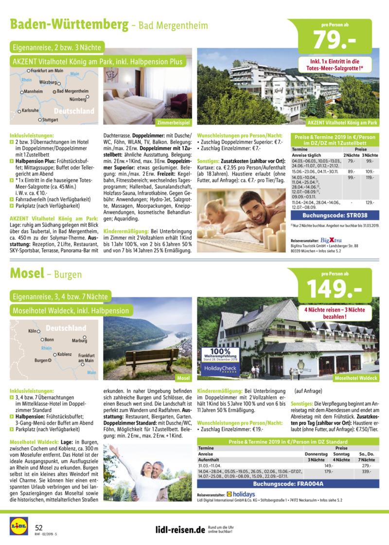 Lidl-Reisen Prospekt vom 01.02.2019, Seite 51