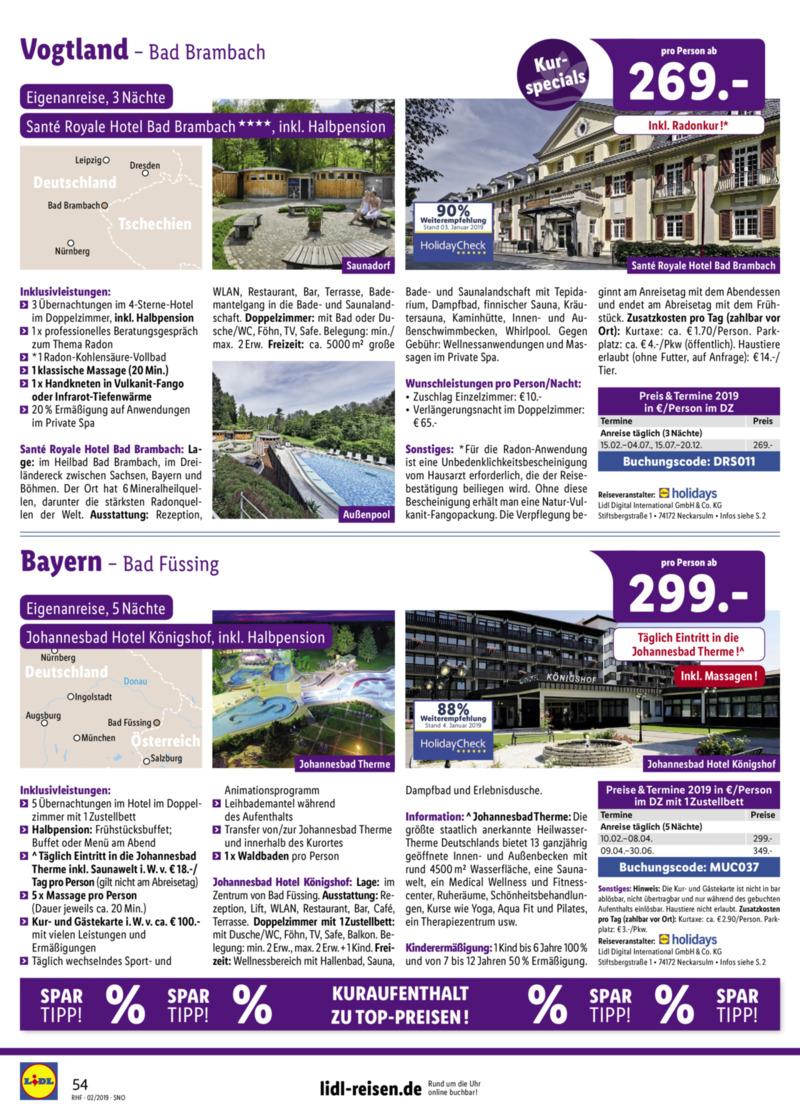 Lidl-Reisen Prospekt vom 01.02.2019, Seite 53