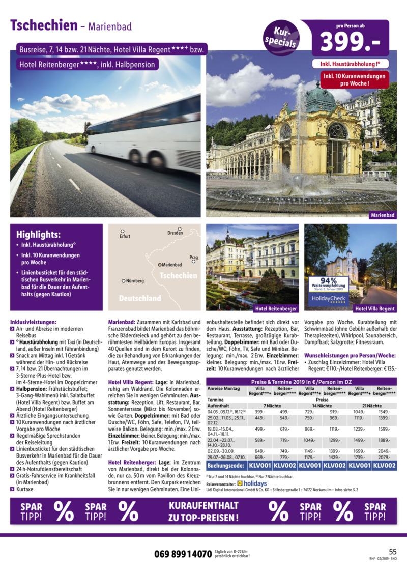Lidl-Reisen Prospekt vom 01.02.2019, Seite 54