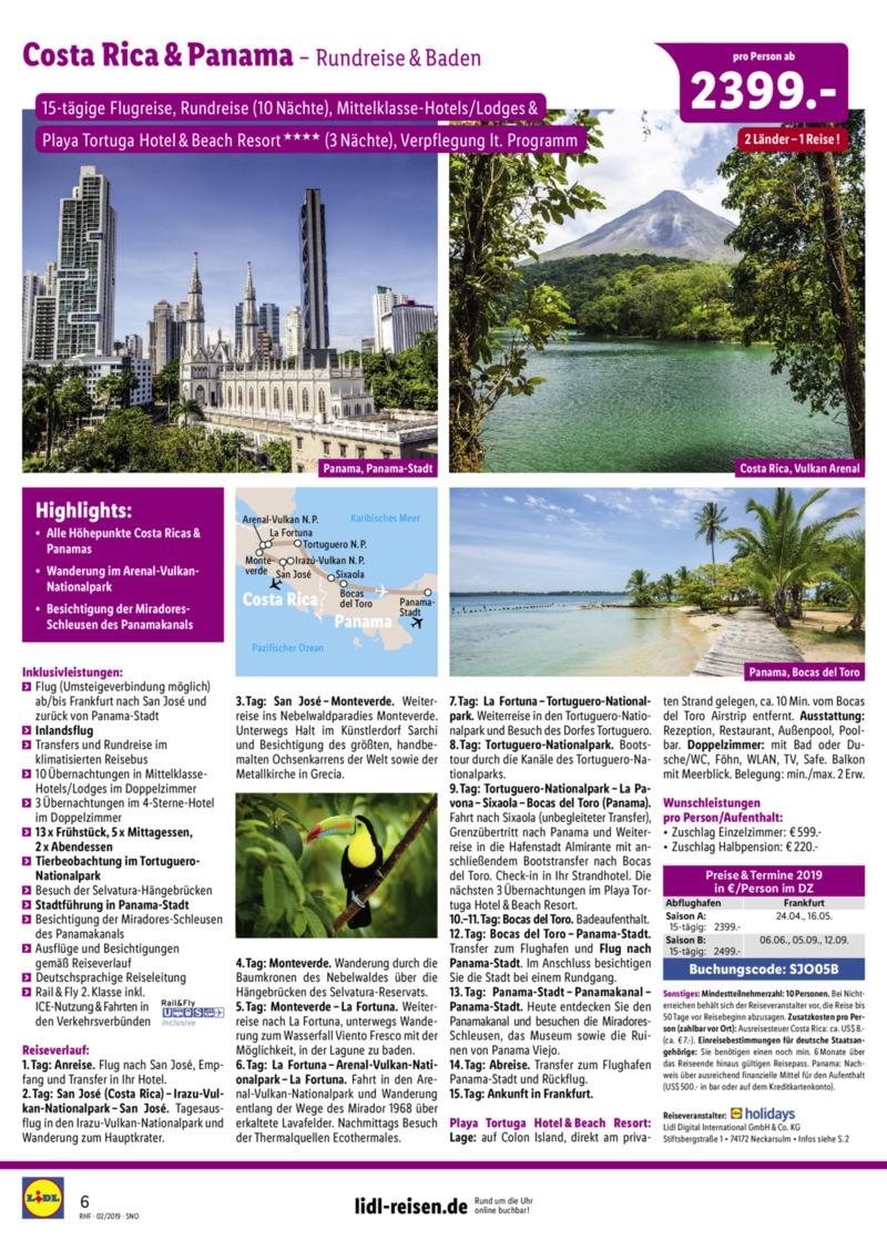 Lidl-Reisen Prospekt vom 01.02.2019, Seite 5