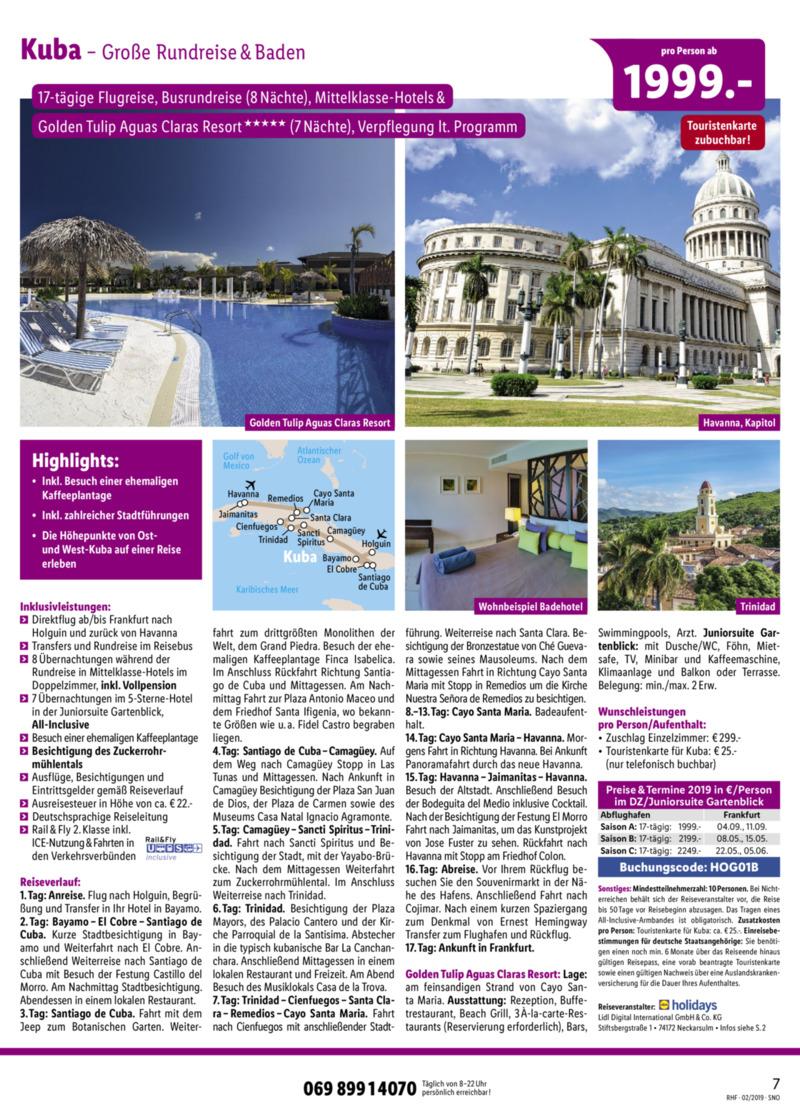Lidl-Reisen Prospekt vom 01.02.2019, Seite 6