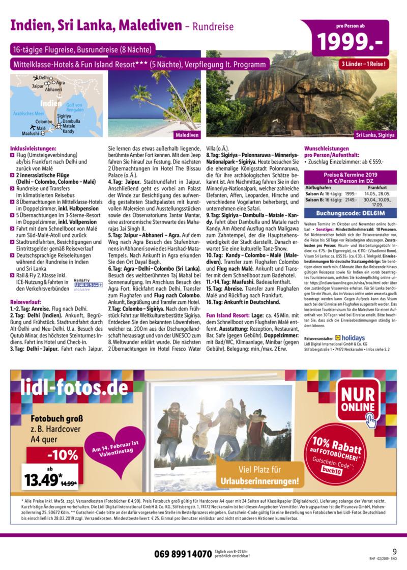 Lidl-Reisen Prospekt vom 01.02.2019, Seite 8