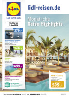 Lidl-Reisen Prospekt vom 01.06.2019
