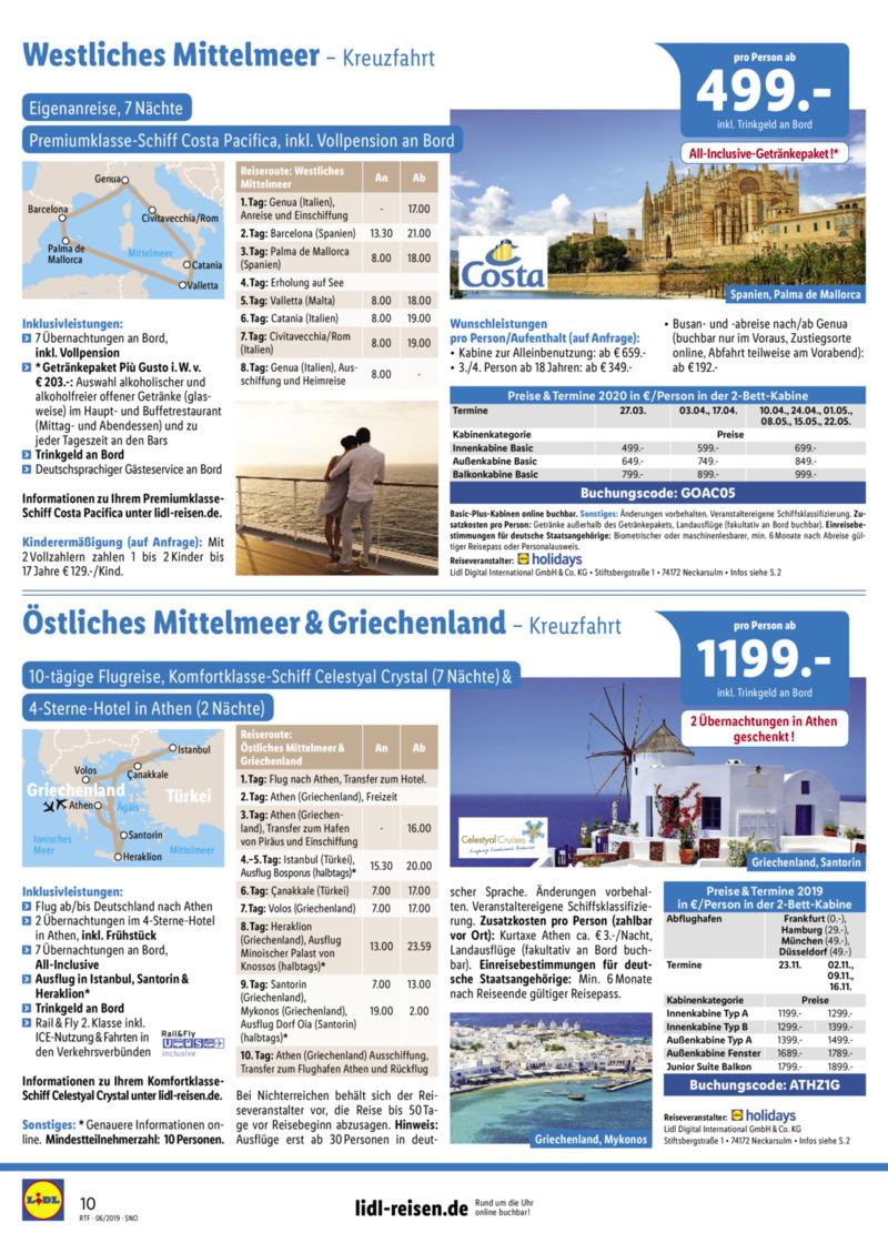 Lidl-Reisen Prospekt vom 15.06.2019, Seite 9