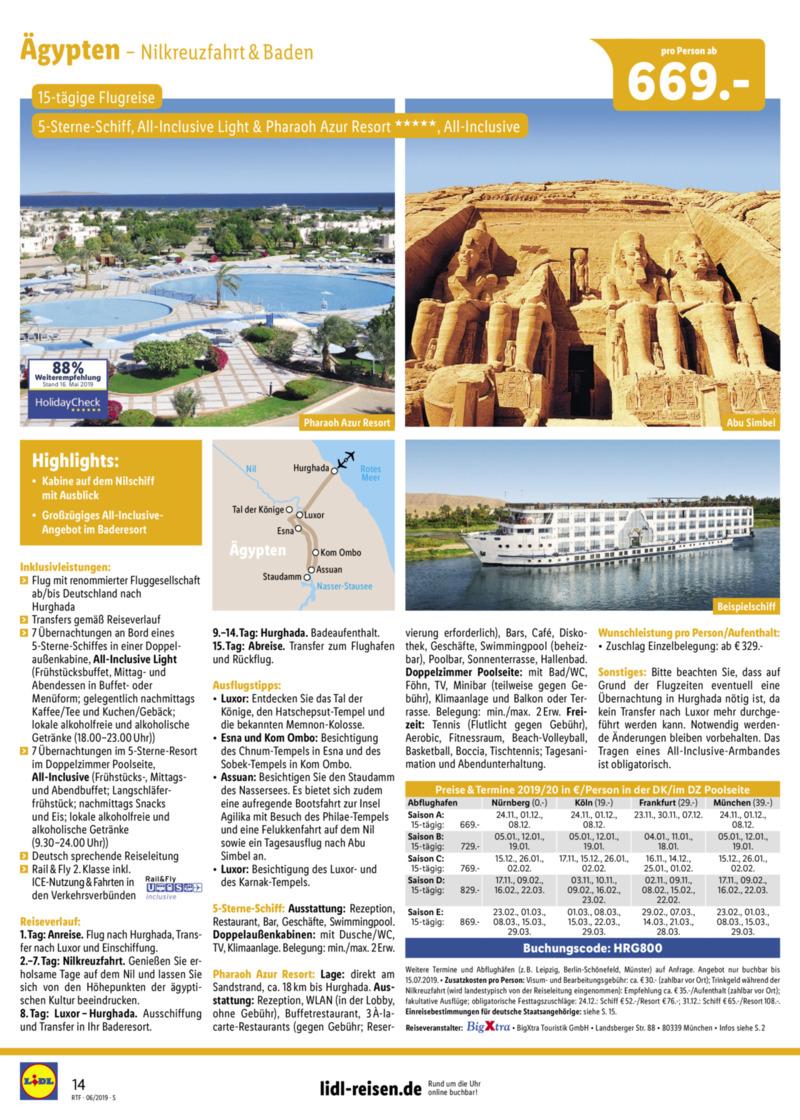Lidl-Reisen Prospekt vom 15.06.2019, Seite 13