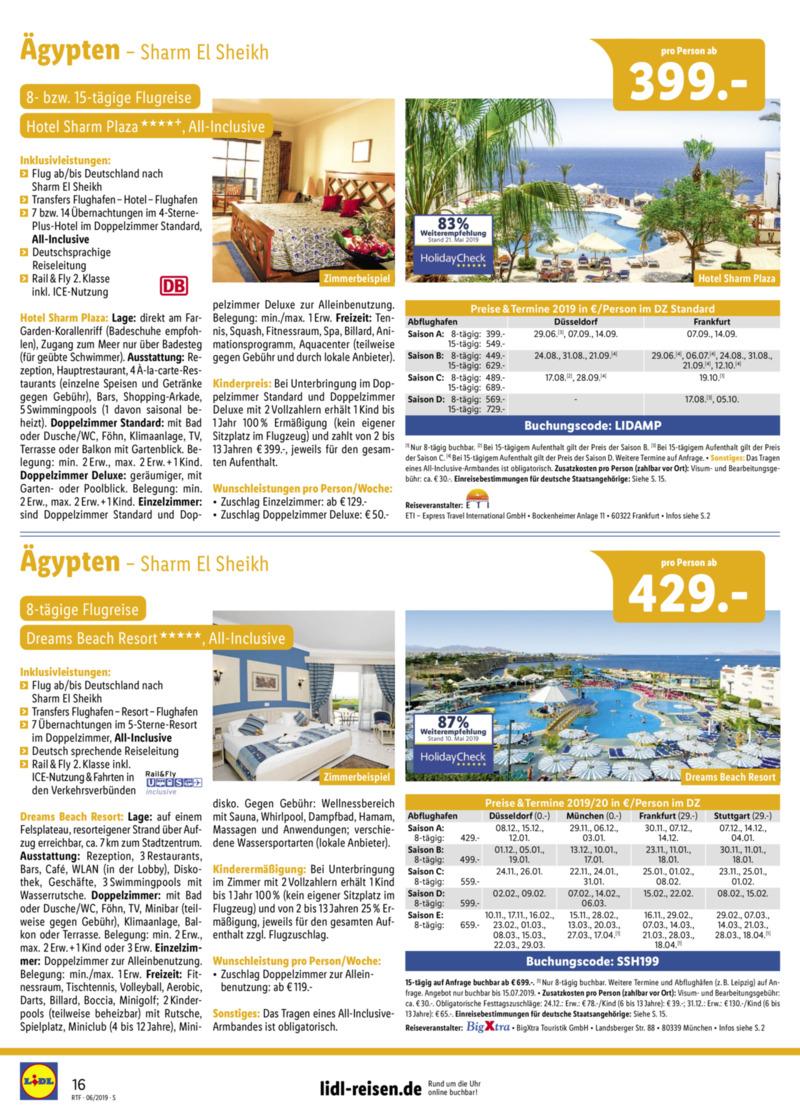 Lidl-Reisen Prospekt vom 15.06.2019, Seite 15