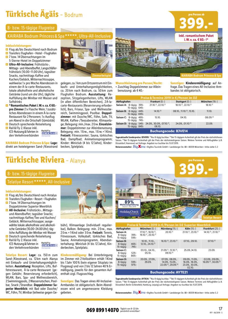 Lidl-Reisen Prospekt vom 15.06.2019, Seite 16