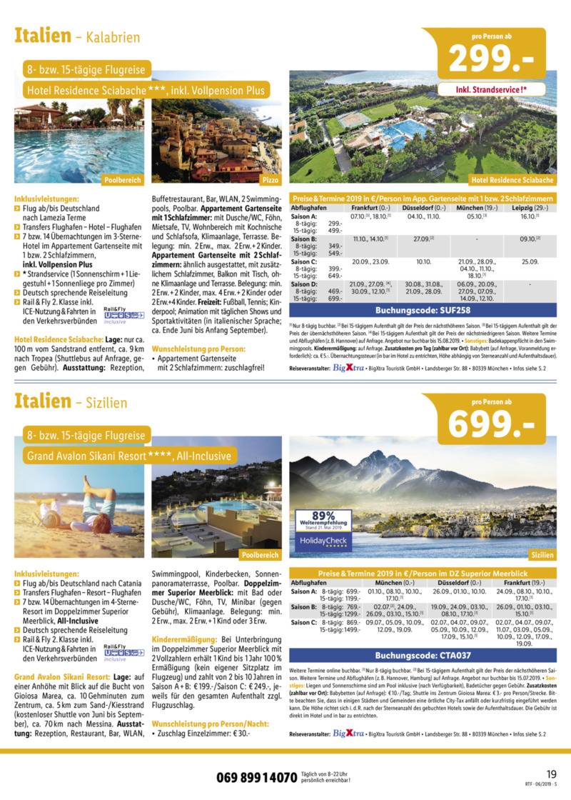 Lidl-Reisen Prospekt vom 15.06.2019, Seite 18