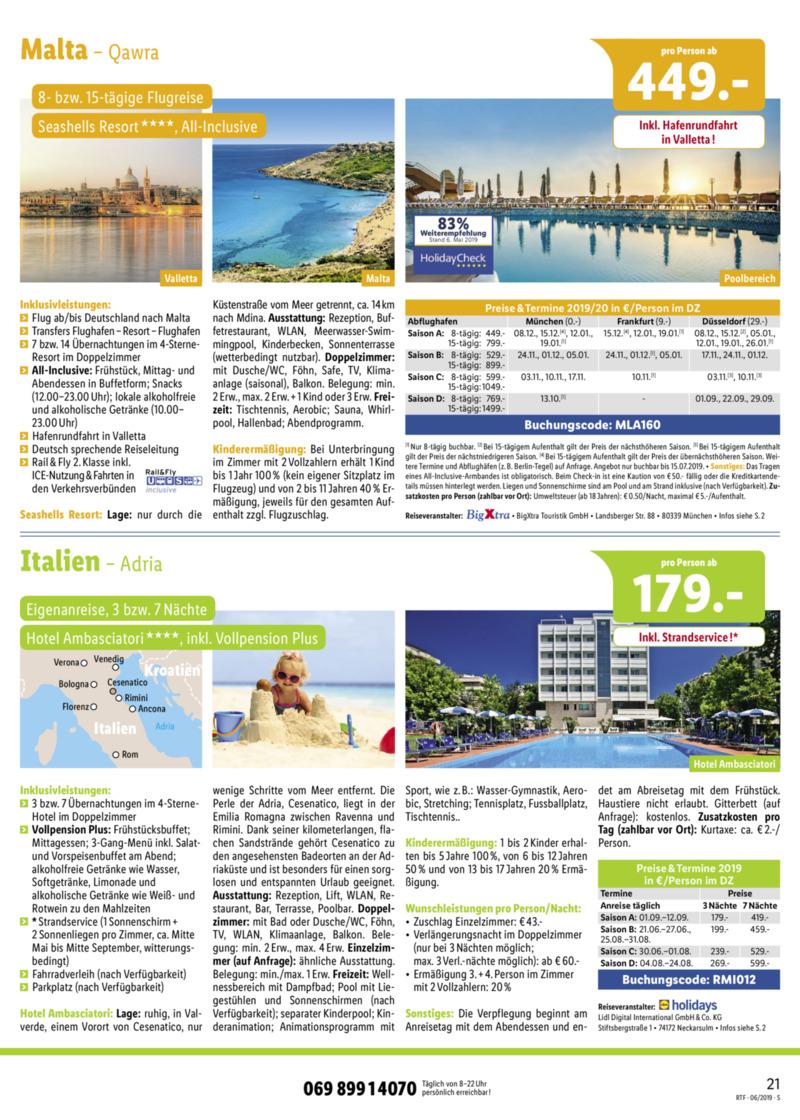 Lidl-Reisen Prospekt vom 15.06.2019, Seite 20