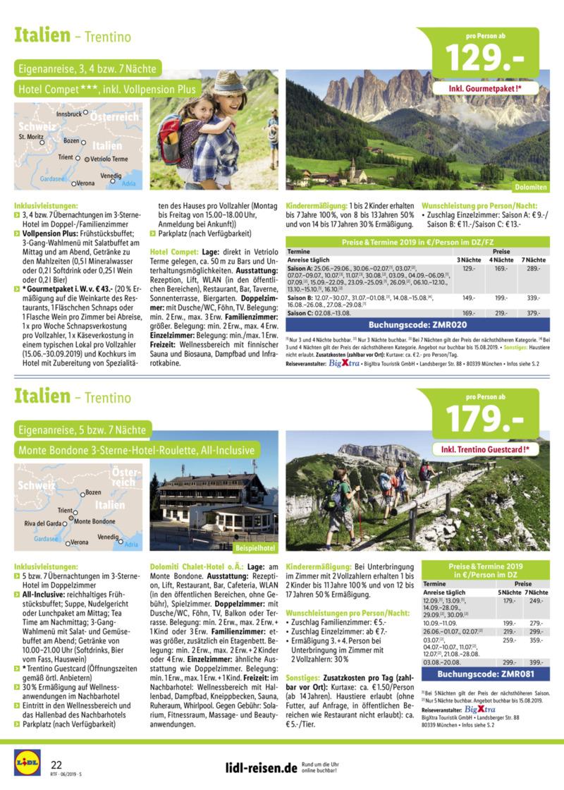 Lidl-Reisen Prospekt vom 15.06.2019, Seite 21