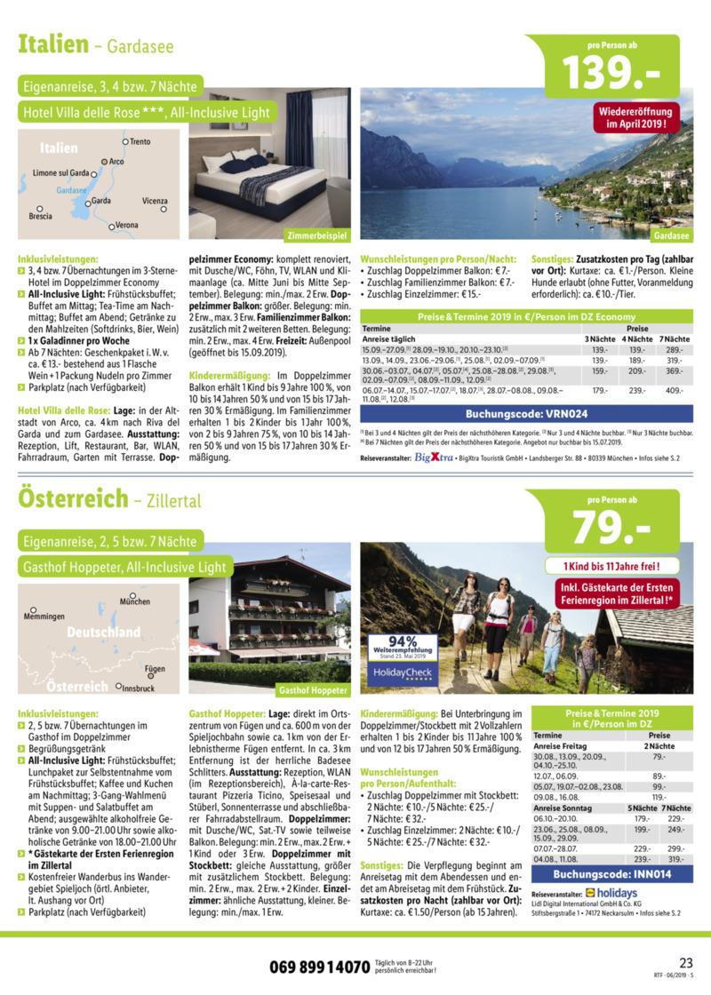 Lidl-Reisen Prospekt vom 15.06.2019, Seite 22