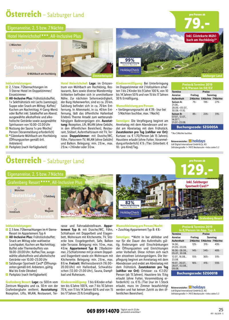 Lidl-Reisen Prospekt vom 15.06.2019, Seite 24