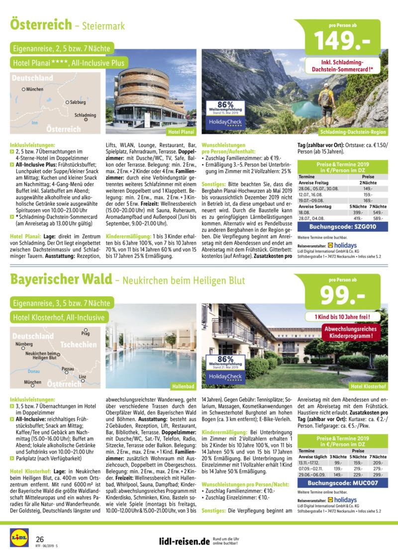 Lidl-Reisen Prospekt vom 15.06.2019, Seite 25