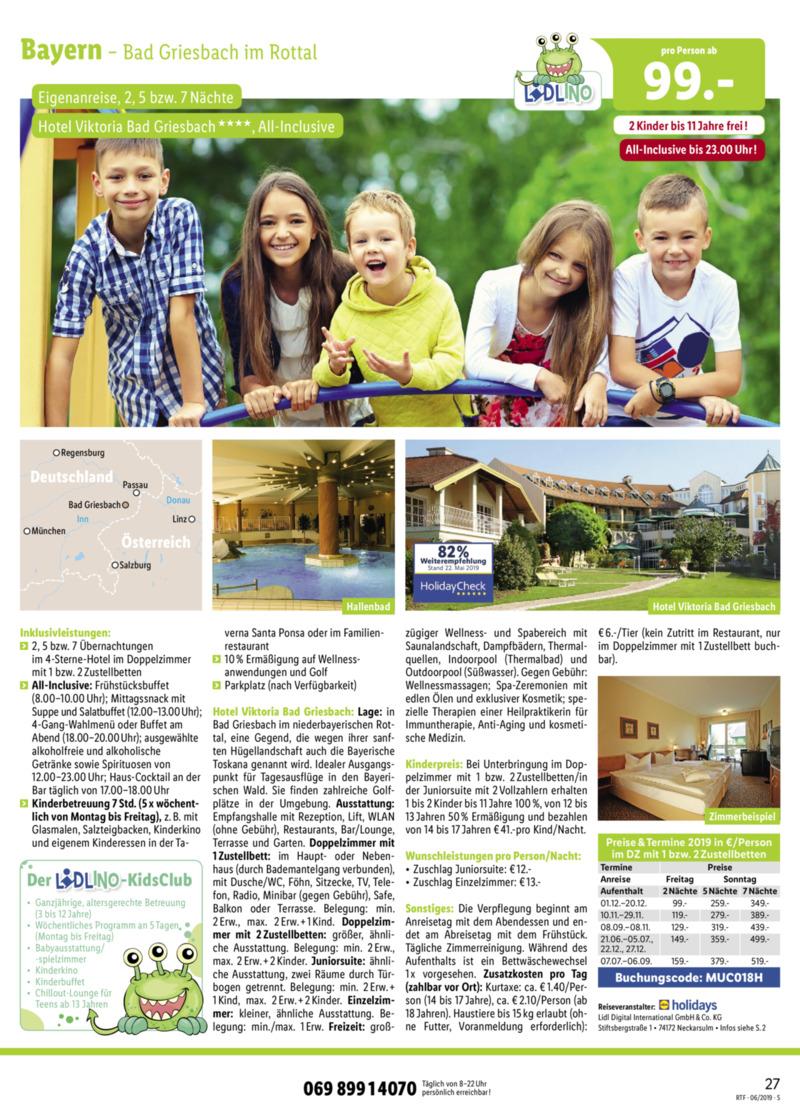 Lidl-Reisen Prospekt vom 15.06.2019, Seite 26