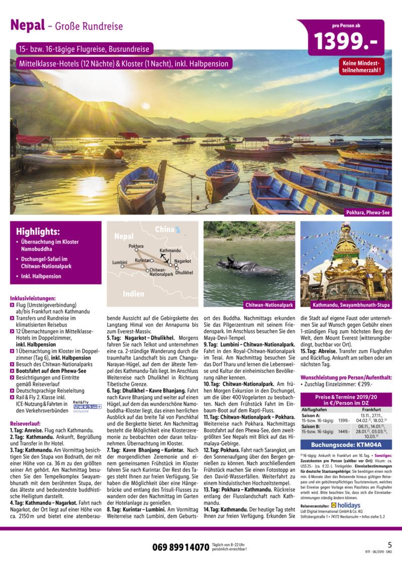 Lidl-Reisen Prospekt vom 15.06.2019, Seite 4