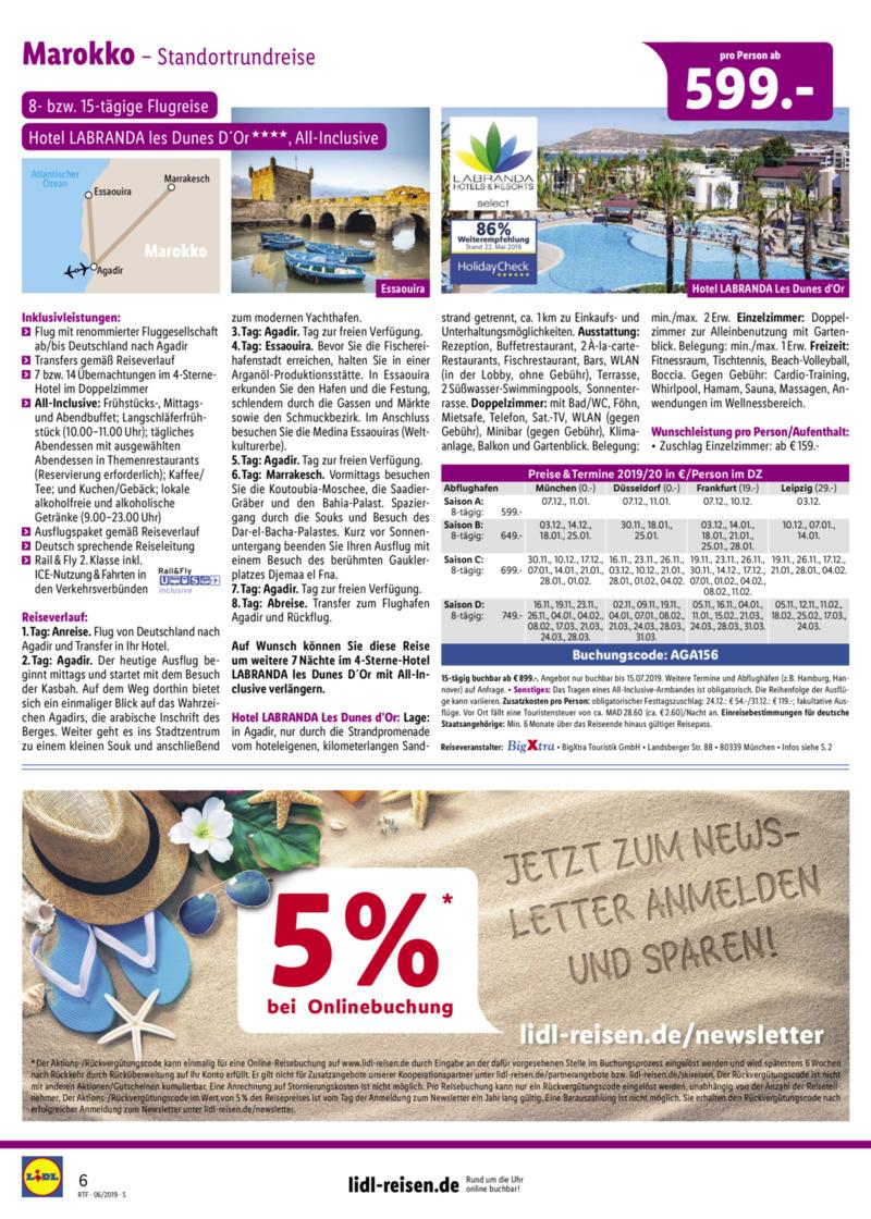 Lidl-Reisen Prospekt vom 15.06.2019, Seite 5