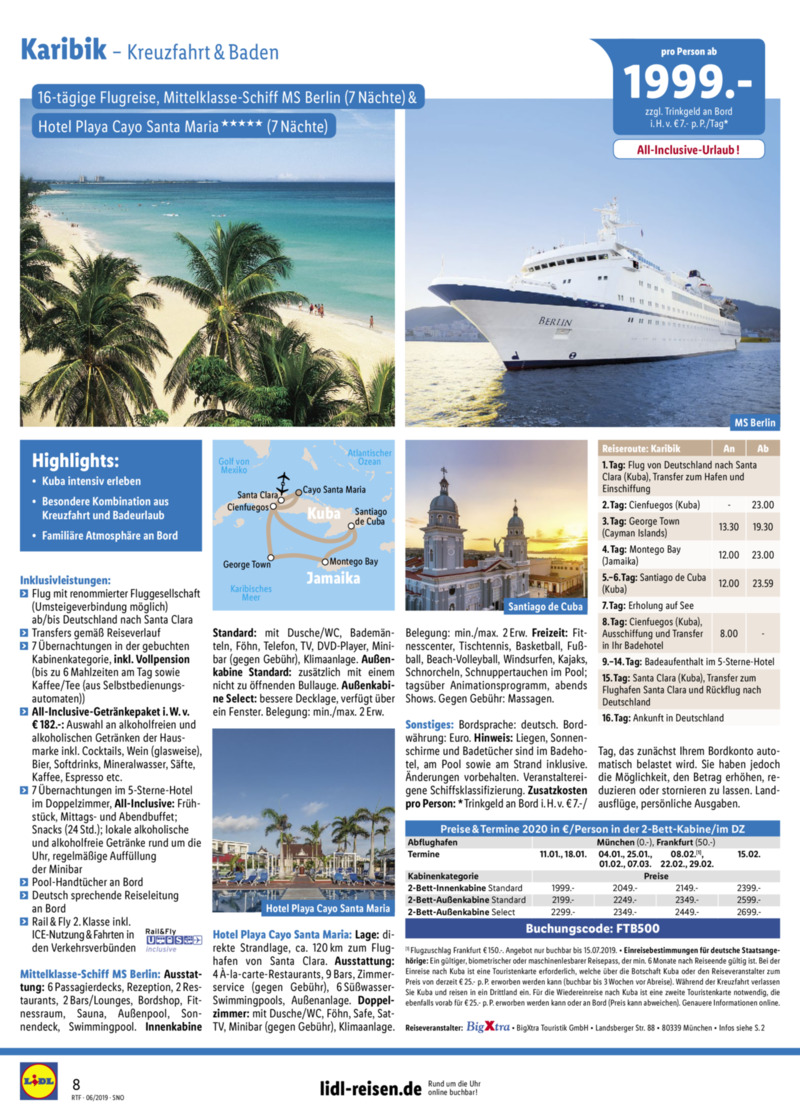 Lidl-Reisen Prospekt vom 15.06.2019, Seite 7