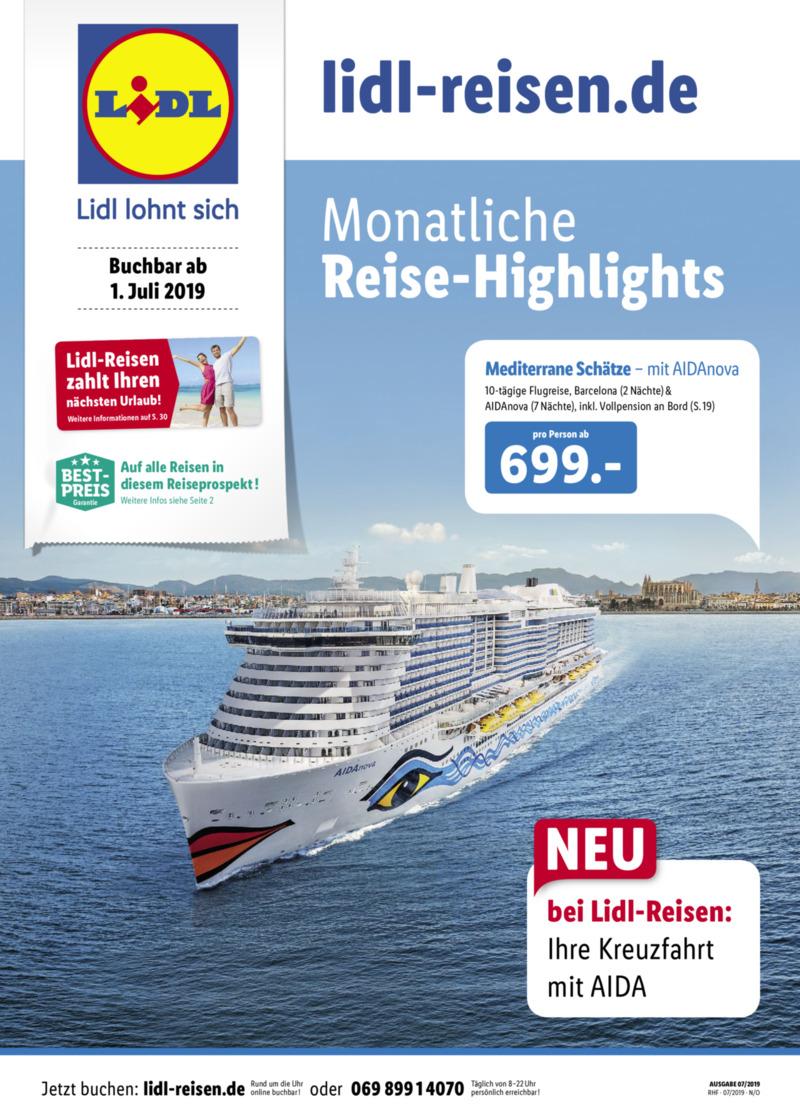 Lidl-Reisen Prospekt vom 01.07.2019, Seite