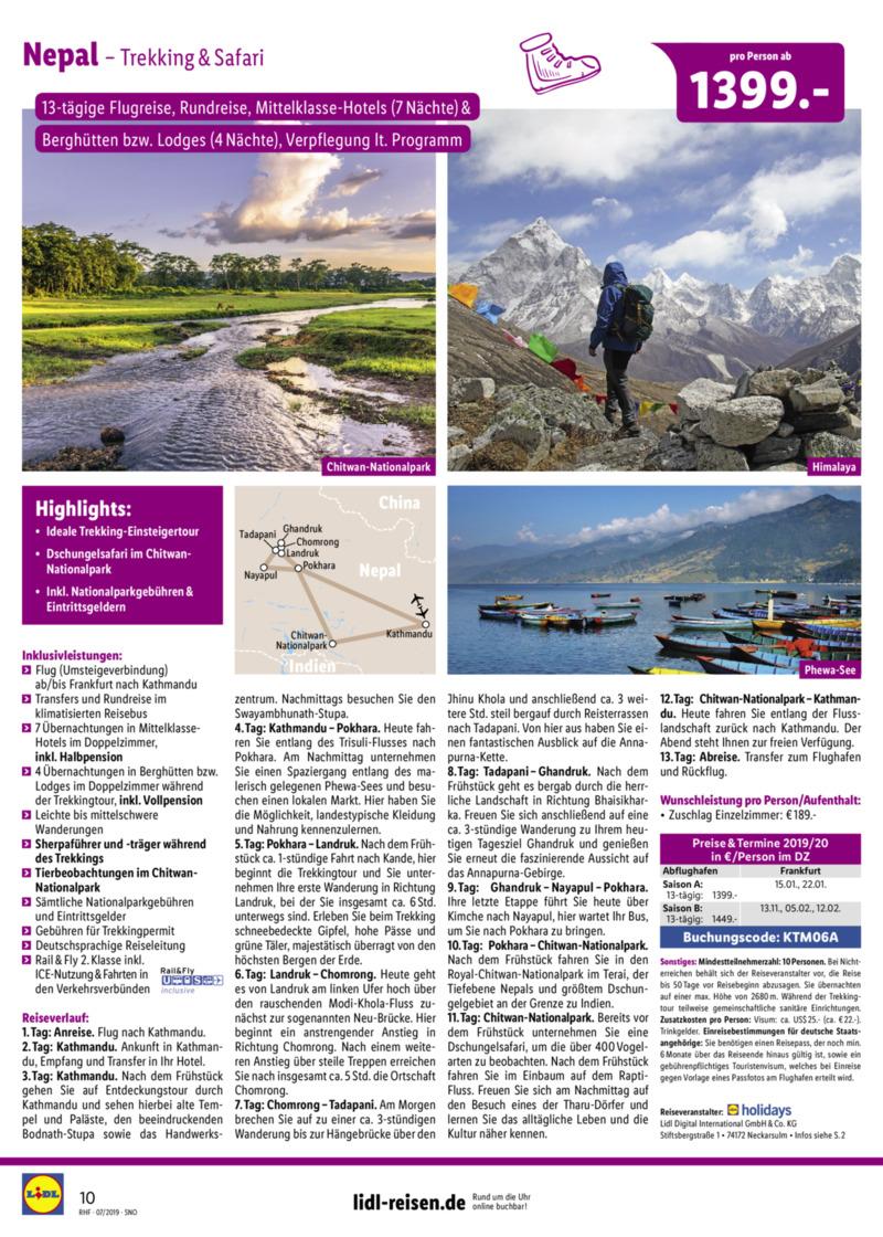 Lidl-Reisen Prospekt vom 01.07.2019, Seite 9