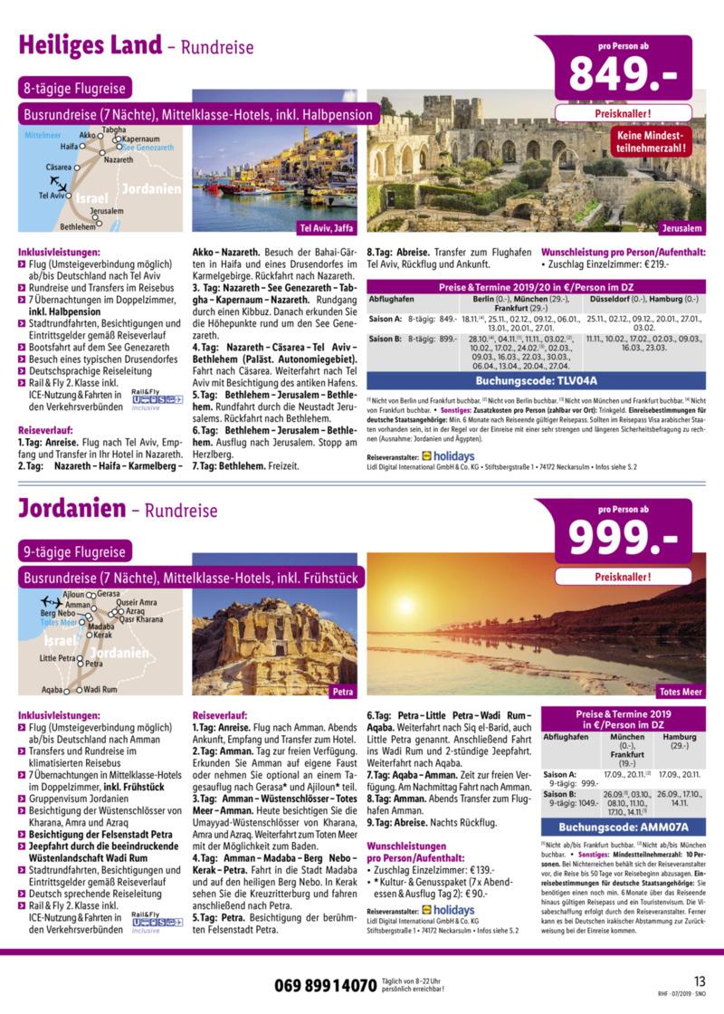 Lidl-Reisen Prospekt vom 01.07.2019, Seite 12
