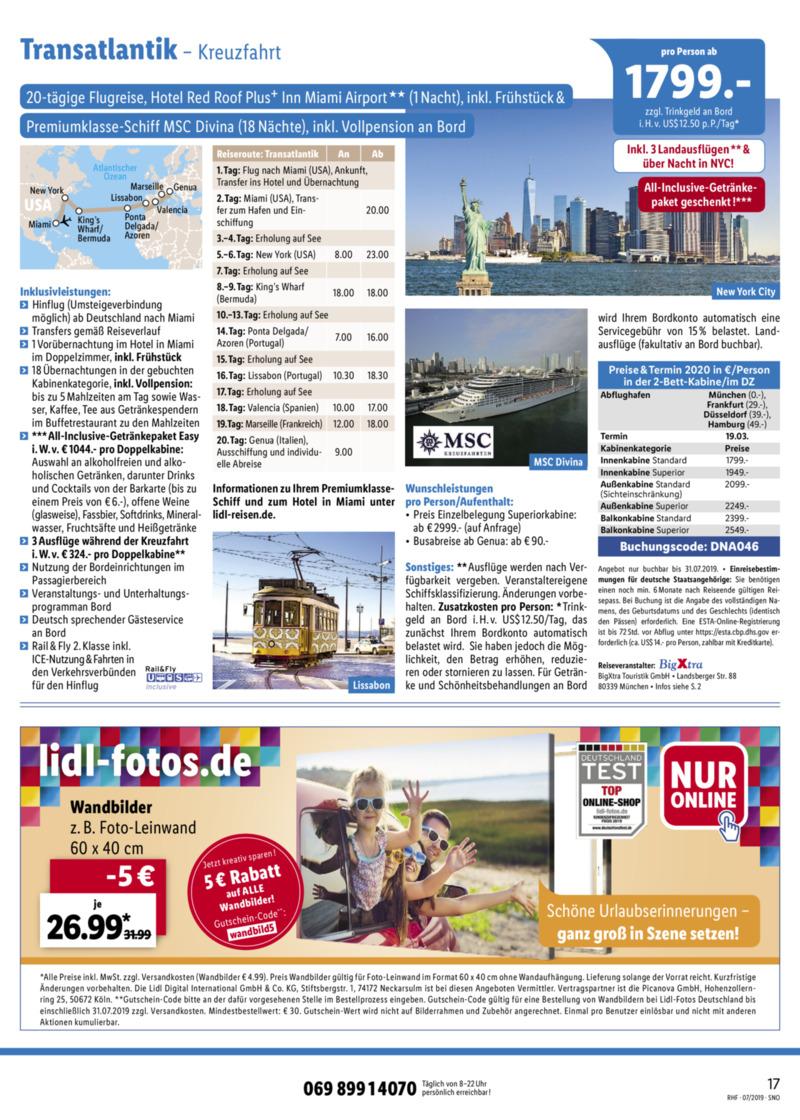 Lidl-Reisen Prospekt vom 01.07.2019, Seite 16