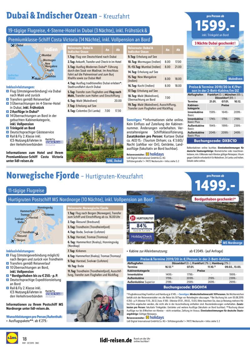 Lidl-Reisen Prospekt vom 01.07.2019, Seite 17