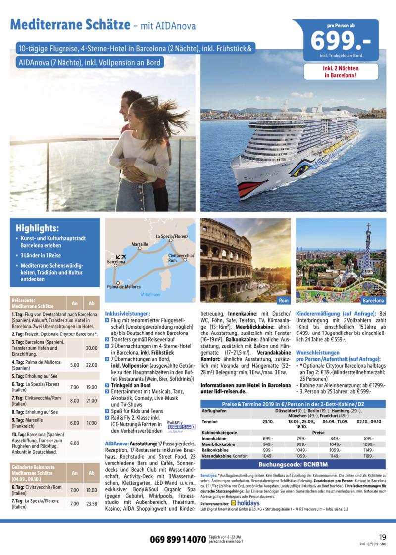Lidl-Reisen Prospekt vom 01.07.2019, Seite 18