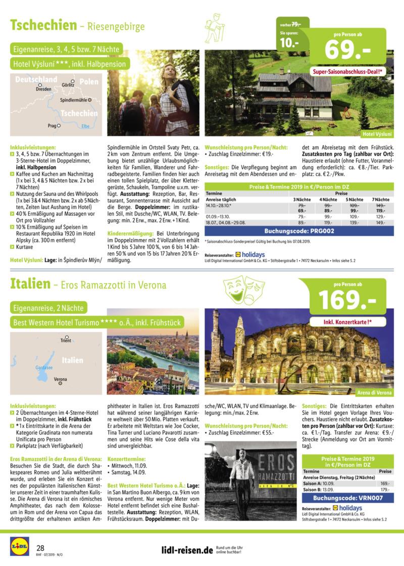 Lidl-Reisen Prospekt vom 01.07.2019, Seite 27